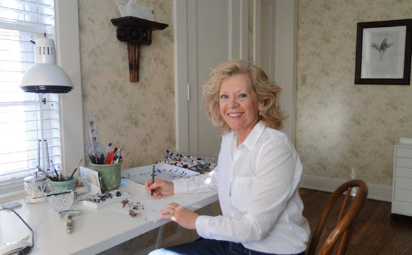 Connie Scanlon in her studio